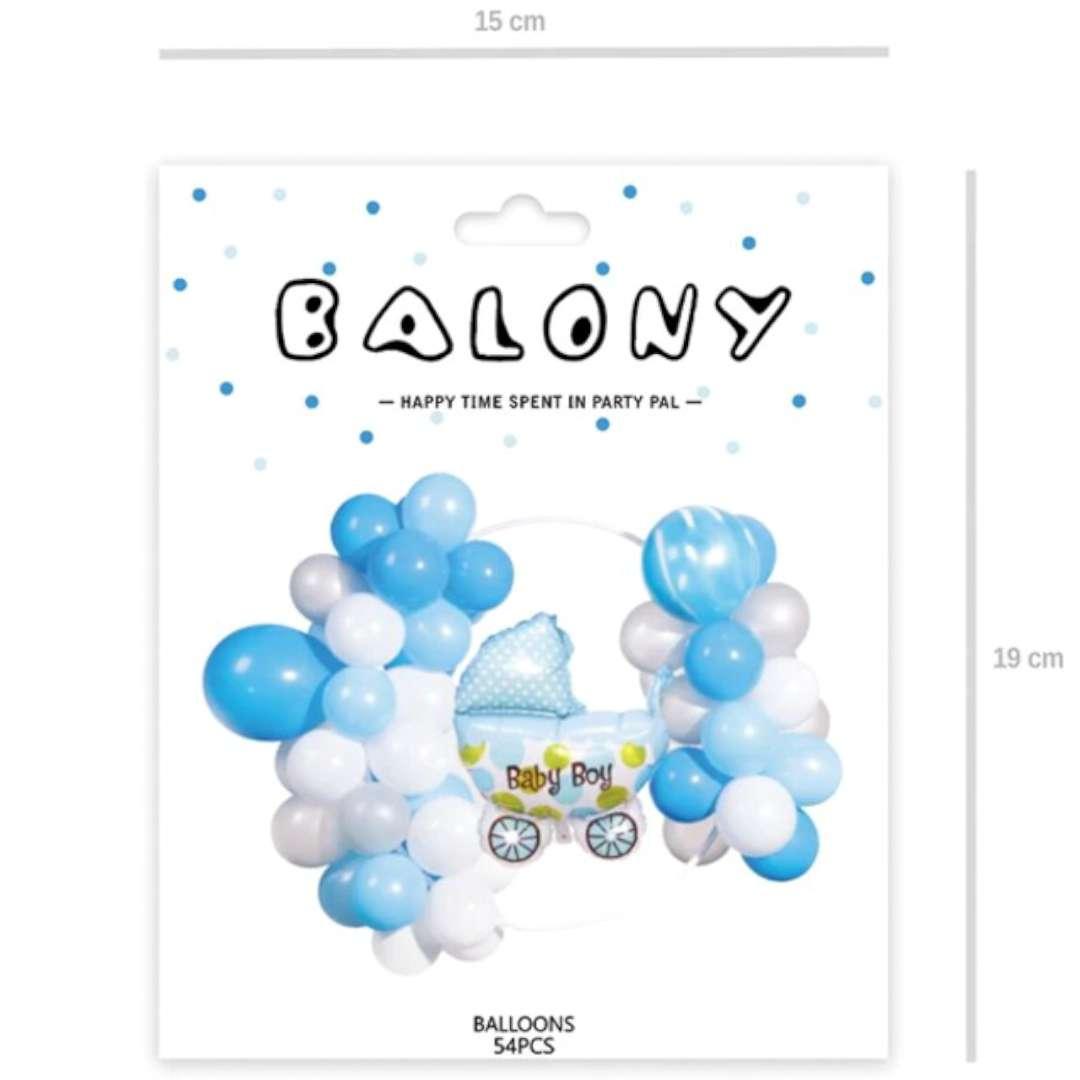 Girlanda balonowa Baby Shower Boy biało-błękitny PartyPal