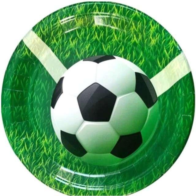 Talerzyki papierowe Piłka Nożna Jix 175 cm 6 szt