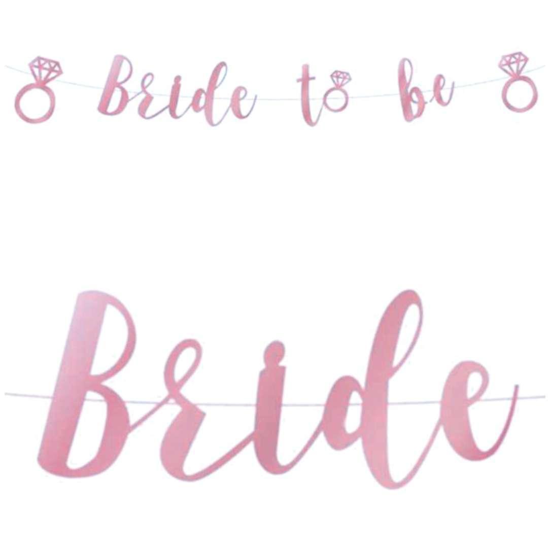 "Baner ""Bride to Be"", różowy, Godan, 300 cm"