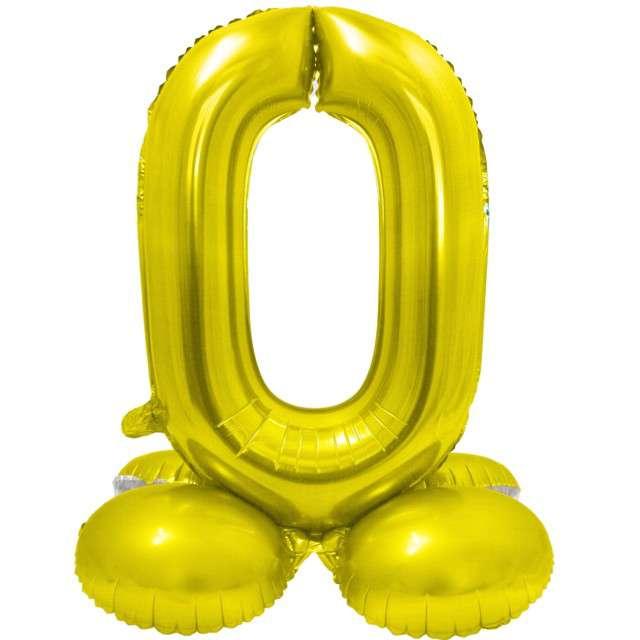 Balon foliowy Smart - Cyfra 0 stojąca złota Godan 28 SHP