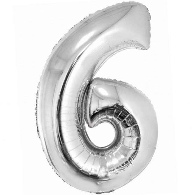 Balon foliowy Smart - Cyfra 5 srebrny Godan 30 SHP