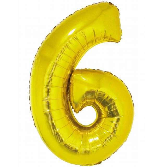 Balon foliowy Smart - Cyfra 6 złoty Godan 30 SHP