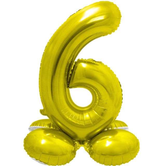 Balon foliowy Smart - Cyfra 6 stojąca złota Godan 28
