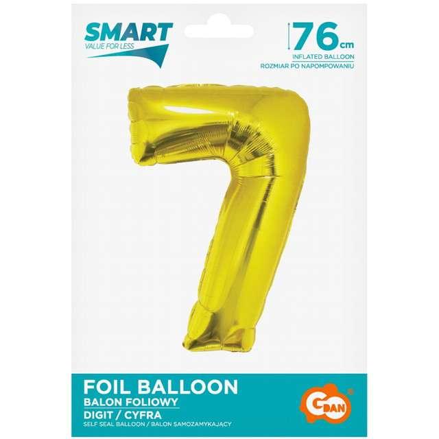 Balon foliowy Smart - Cyfra 7 złoty Godan 30 SHP