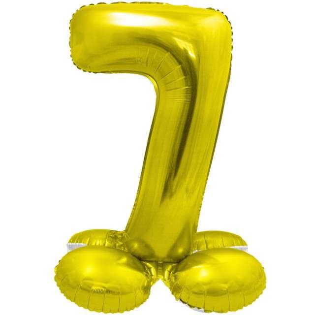 Balon foliowy Smart - Cyfra 7 stojąca złoty Godan 28