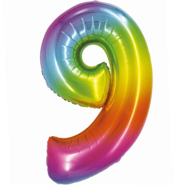 Balon foliowy Smart - Cyfra 9 tęczowy Godan 30 SHP