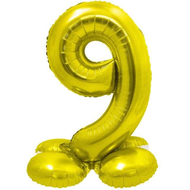 Balon foliowy Smart - Cyfra 9 stojąca złota Godan 28 SHP