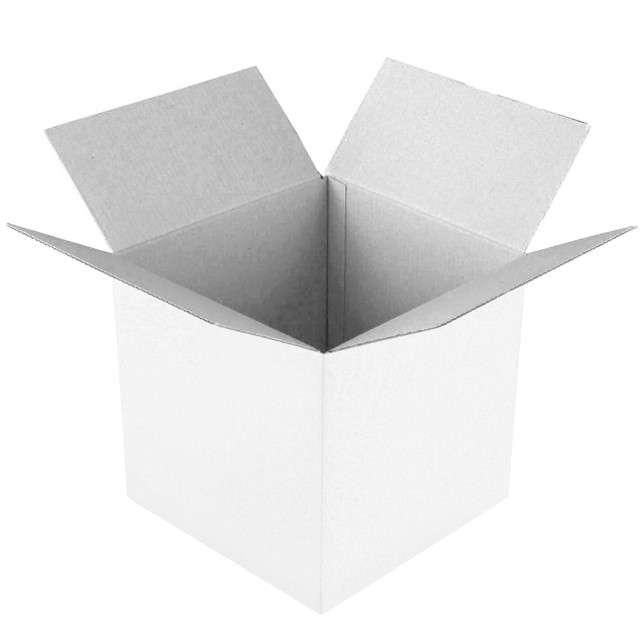 Pudełko na balony Suprise -  prezent białe Godan 50 cm