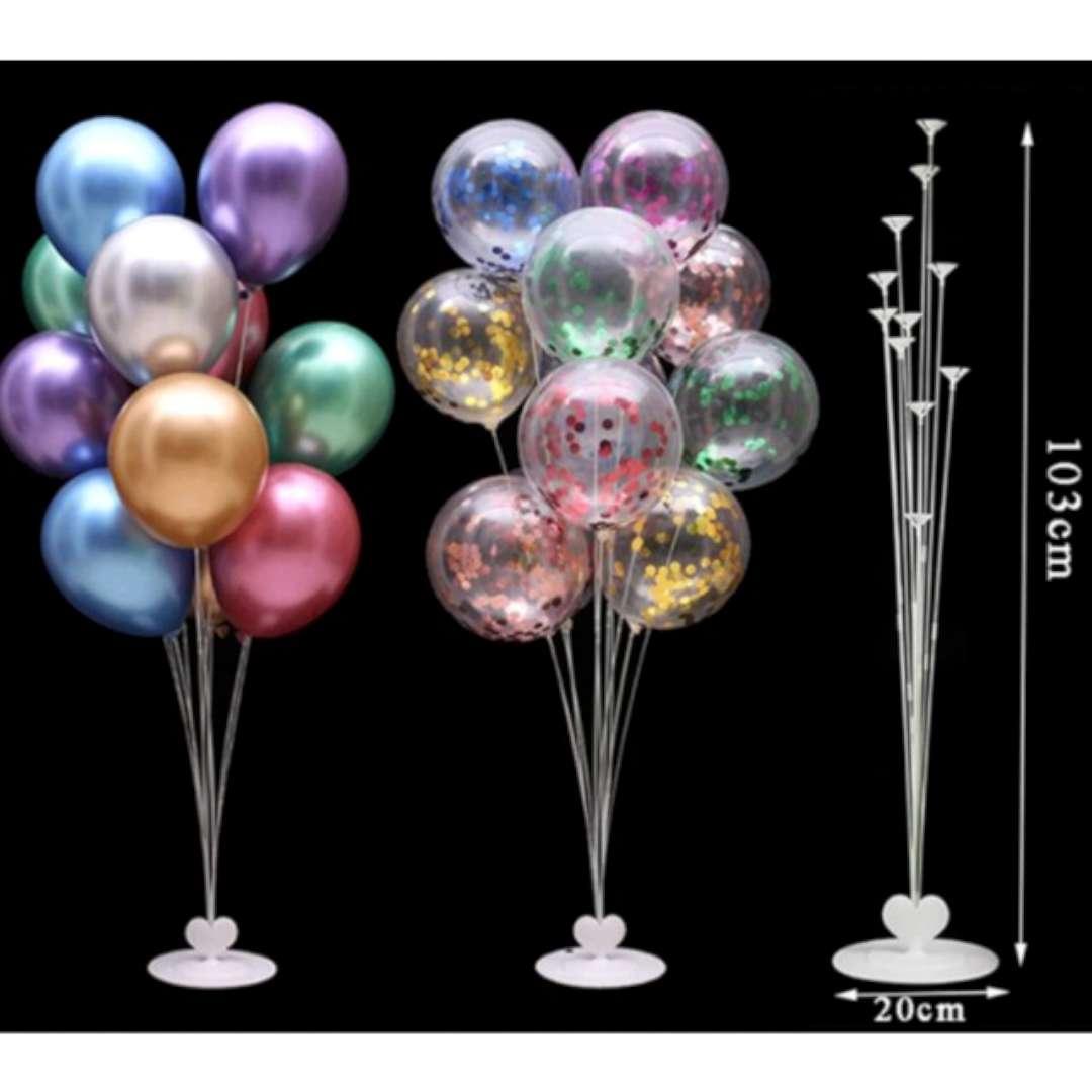 Stojak do balonów Serce biały Jix 103 cm