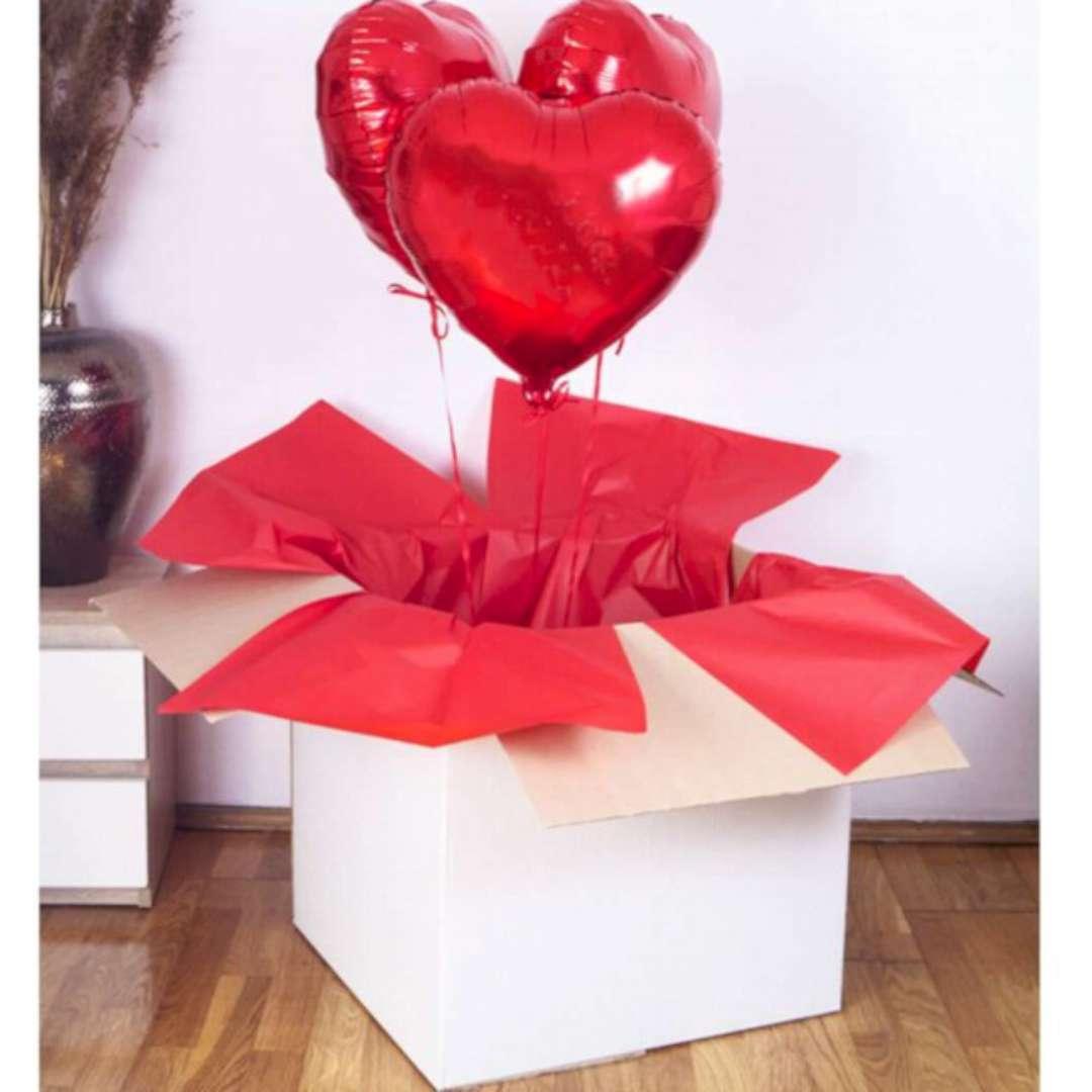 Pudełko na balony Suprise - Niespodzianka białe Godan 65 cm