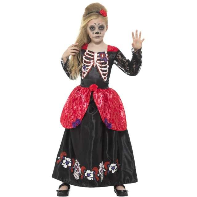 """Strój dla dzieci """"Meksykański Kościotrup"""", czarno-czerwony, Smiffys, rozm. L"""
