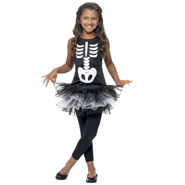 _xx_Skeleton Tutu Costume Black L