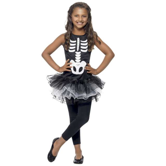 _xx_Skeleton Tutu Costume Black S