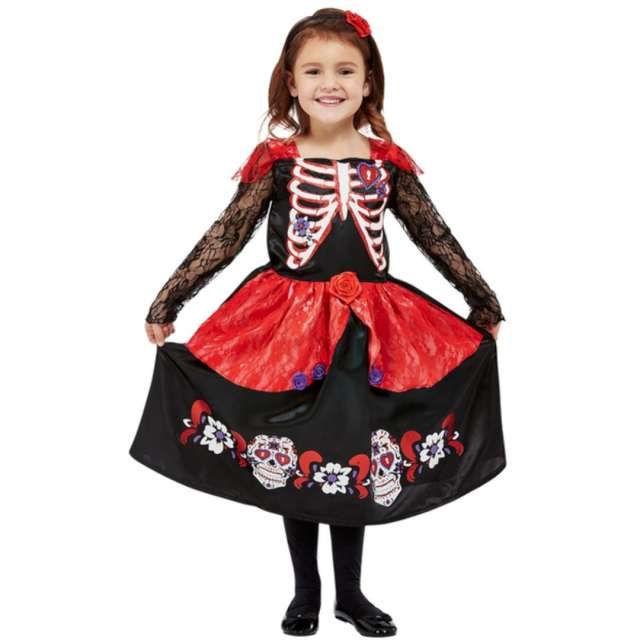 _xx_Toddler Girl Day of the Dead Costume Black