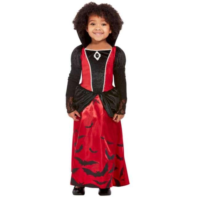 """Strój dla dzieci """"Wampirzyca"""", czarno-czerwony, Smiffys, 3-4 lata"""