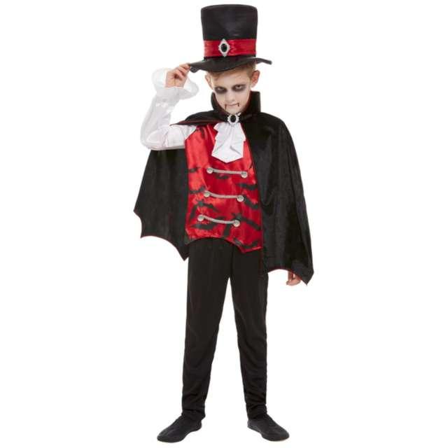 """Strój dla dzieci """"Wampir - Peleryna"""", czarno-czerwony, Smiffys, rozm. M"""