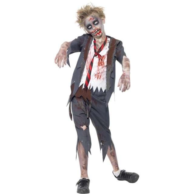 """Strój dla dzieci """"Uczeń Zombie"""", szary, Smiffys, 10-12 lat"""