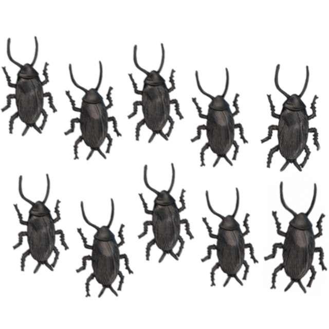 _xx_10 karaluchów plastikowych brązowych Dł 5 cm