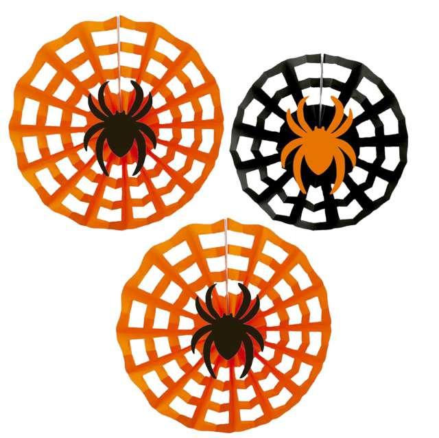 """Rozeta wisząca """"Pająk na pajęczynie - Halloween"""", mix, Amscan, 40 cm"""