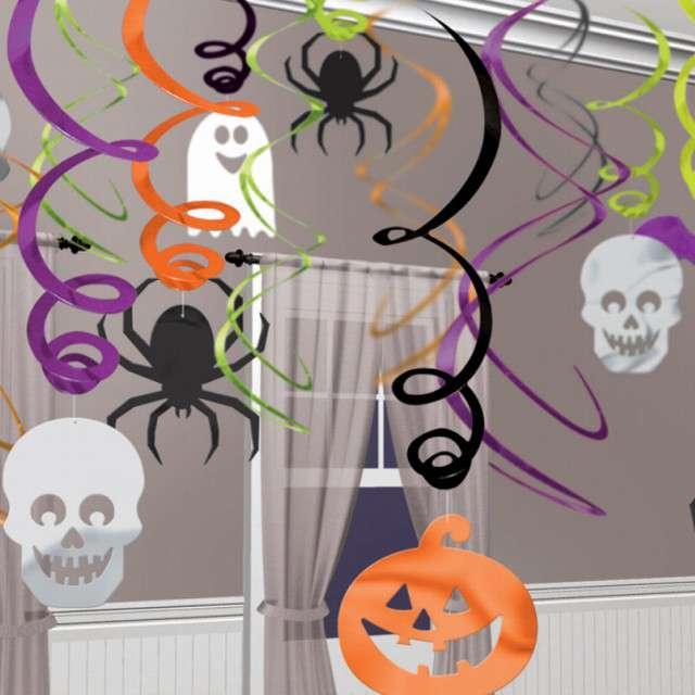 _xx_30 Dekoracje Swirl Halloween Paj?ki Folia / P