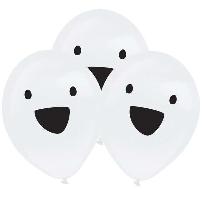 _xx_4 Latex Balloons Clear LED Ghost 27.5 cm / 11