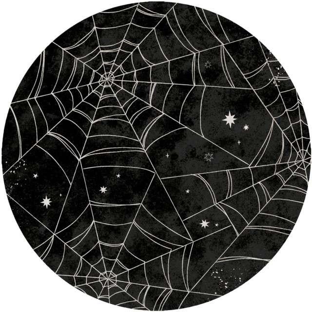 _xx_8 talerzy Okrągły papier pajęczyna 228 cm