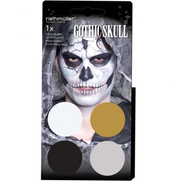 "Make-up party ""Halloween - Gotycka czaszka"", mix, Amscan, 4 kolory"
