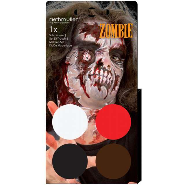 """Make-up party """"Halloween - Zombie"""", mix, Amscan, 4 kolory"""