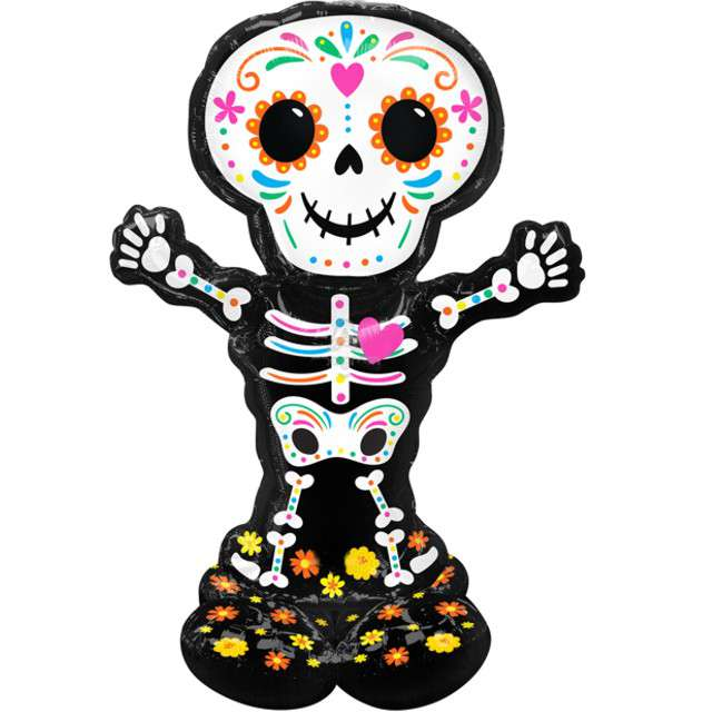 _xx_Balon foliowy AirLoonz Day Of The Dead Skelet