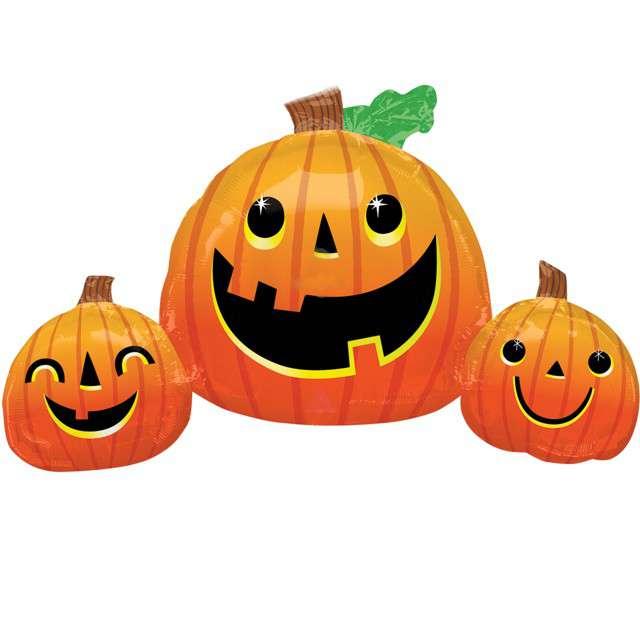 """Balon foliowy """"Dynie- Halloween"""", pomarańczowy, Amscan, 35"""", SHP"""