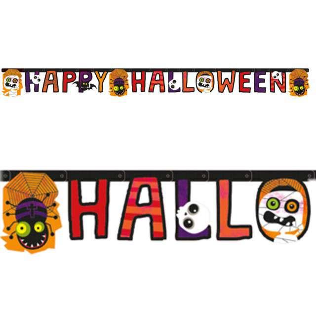 _xx_Baner z literą Halloween Kids Paper 180 x 15