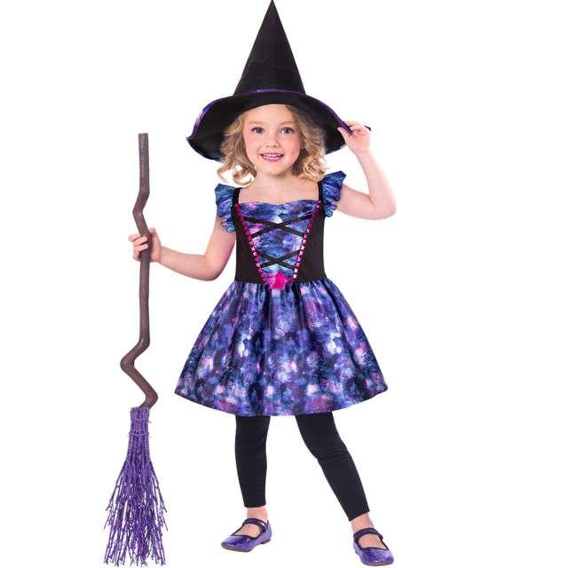 """Strój dla dzieci """"Wiedźma Eco"""", niebiesko-czarny, Amscan, 6-8 lat"""
