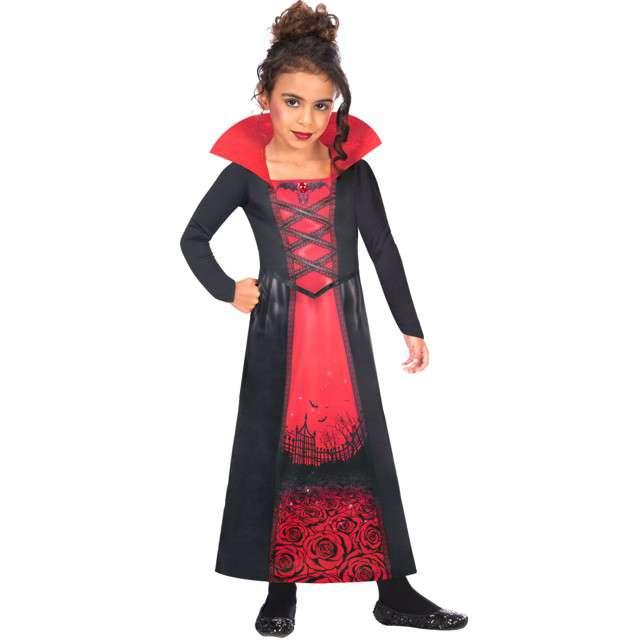 """Strój dla dzieci """"Wampirzyca - różany ogród"""", czarno-czerwony, Amscan, 8-10 lat"""