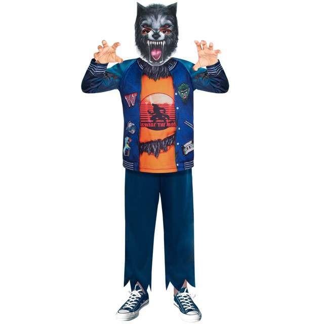 """Strój dla dzieci """"Wilkołak"""", niebieski, Amscan, 8-10 lat"""