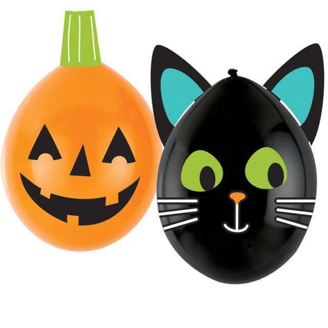 """Balony """"DIY dynia i kotek na Halloween"""", mix, AMSCAN, 11"""", 2 szt"""