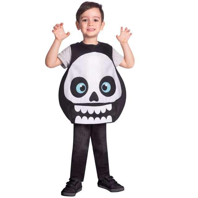 """Strój dla dzieci """"Szkielet"""", czarno - biały, Amscan, 4-6 lat"""
