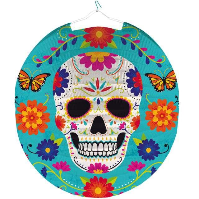 """Lampion papierowy """"Meksykańska czaszka"""", kolorowy, Amscan, 25 cm"""