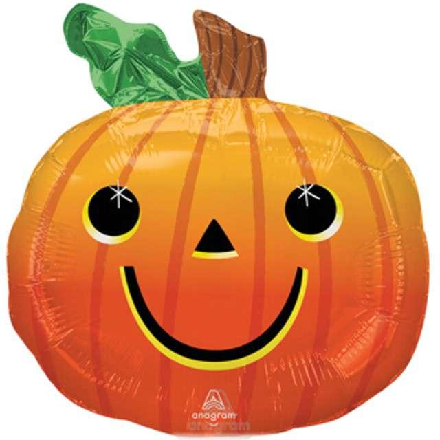 _xx_Minishape Smiley Pumpkin Foil Balloon A30 Bulk