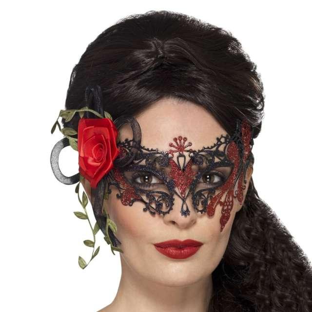 Maska Święto Zmarłych - Zmysłowa Lady czarna Smiffys