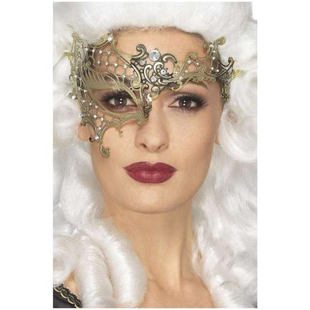 Maska karnawałowa Wenecka - Złoty Filigran damska Smiffys