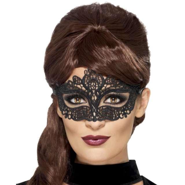 Maska karnawałowa Wenecka - Wyszywana czarna Smiffys