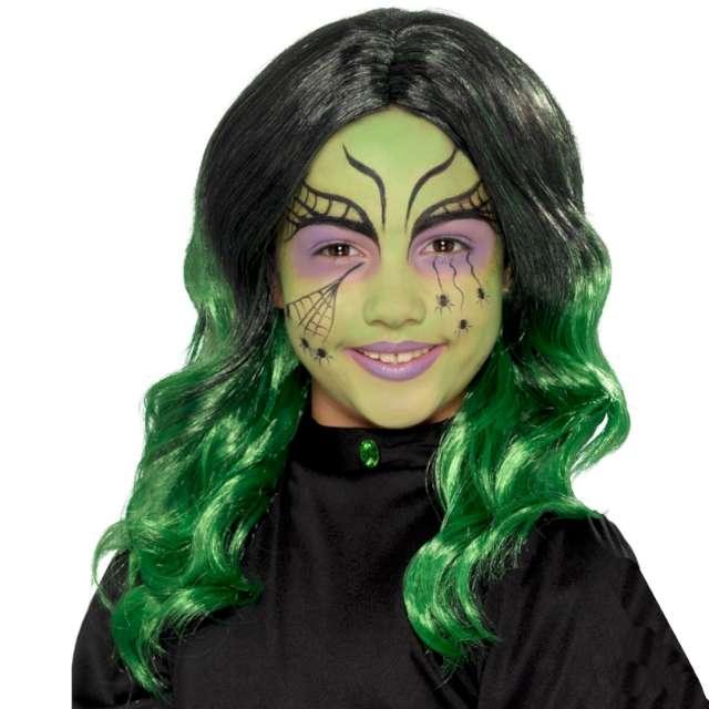 _xx_Kids Witch Wig Black & Green