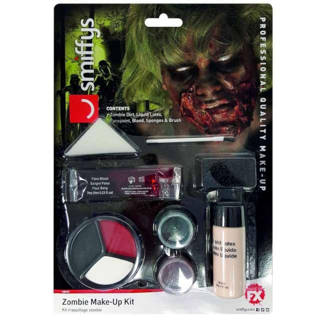 Make-up party Halloween - Straszny Zombie SMIFFYS zestaw