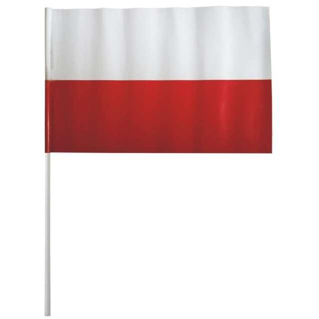 """Chorągiewka """"Polski kibic"""", biało-czerwona, Arpex, 38 cm"""