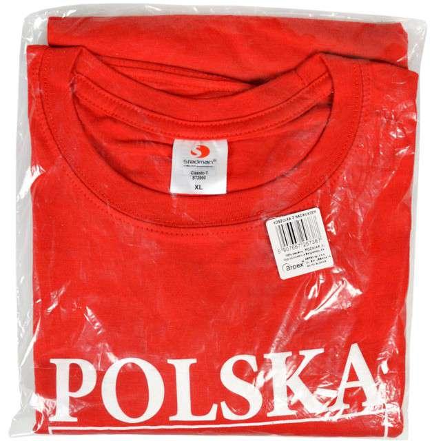 T-shirt z nadrukiem Polska - orzeł biały czerwony Arpex L