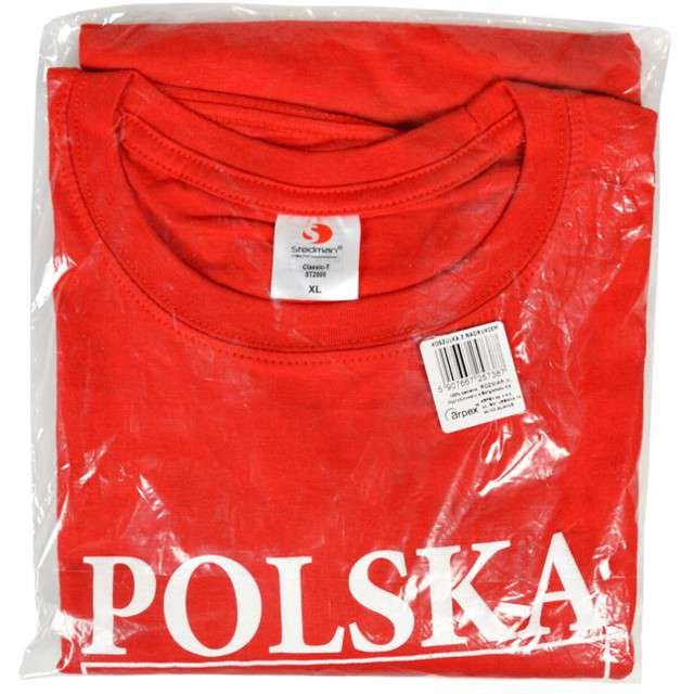 T-shirt z nadrukiem Polska - orzeł biały czerwony Arpex M