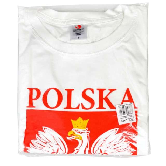 T-shirt z nadrukiem Polska - orzeł biały biała Arpex XL