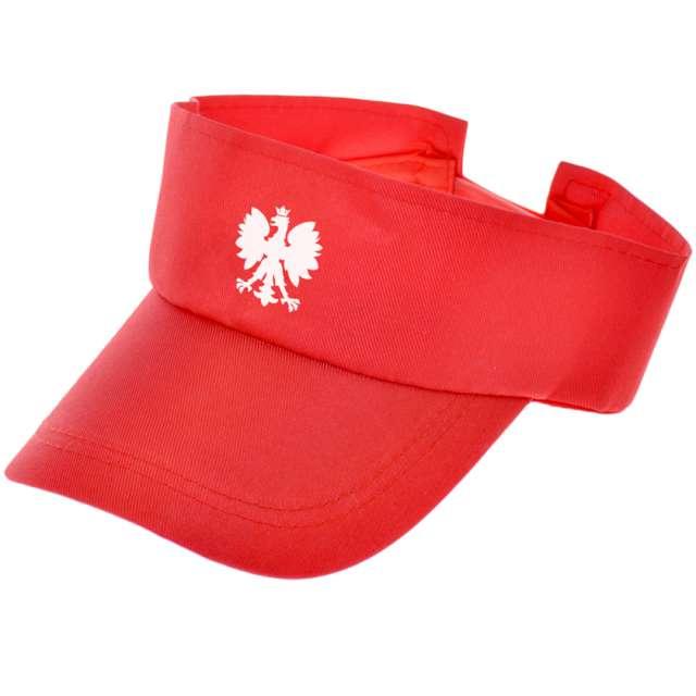 """Opaska party """"Kibic z daszkiem"""", czerwony, Arpex"""