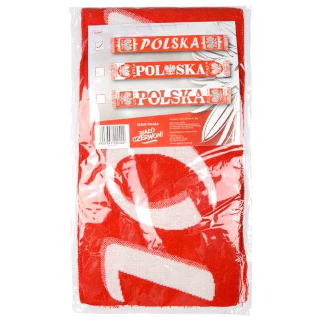 Szalik kibica Polska - Godło biało-czerwony Arpex 145 cm