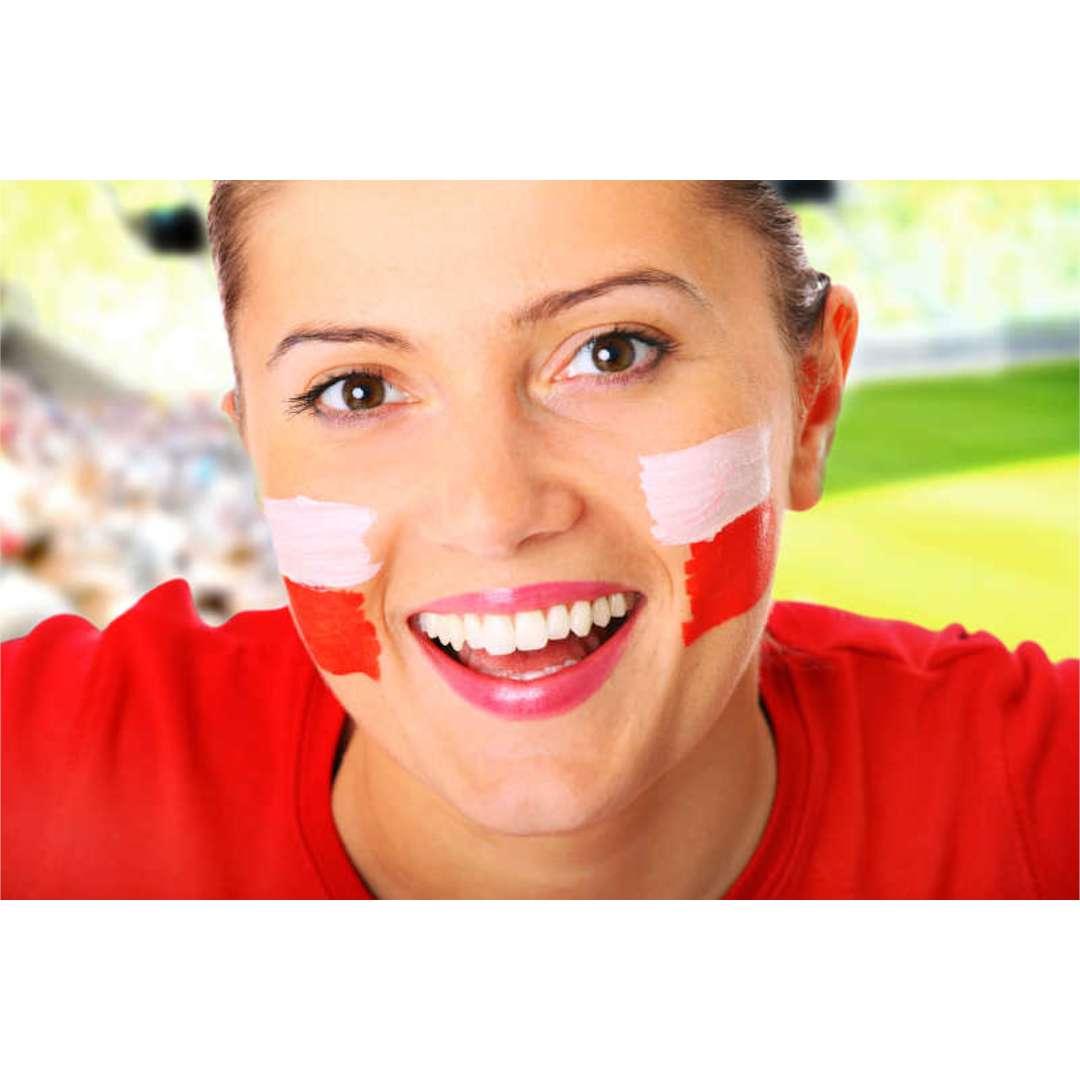 Make-up party Farbka do twarzy w sztyfcie biało-czerwona Arpex